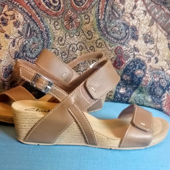 clarks wedges on sale